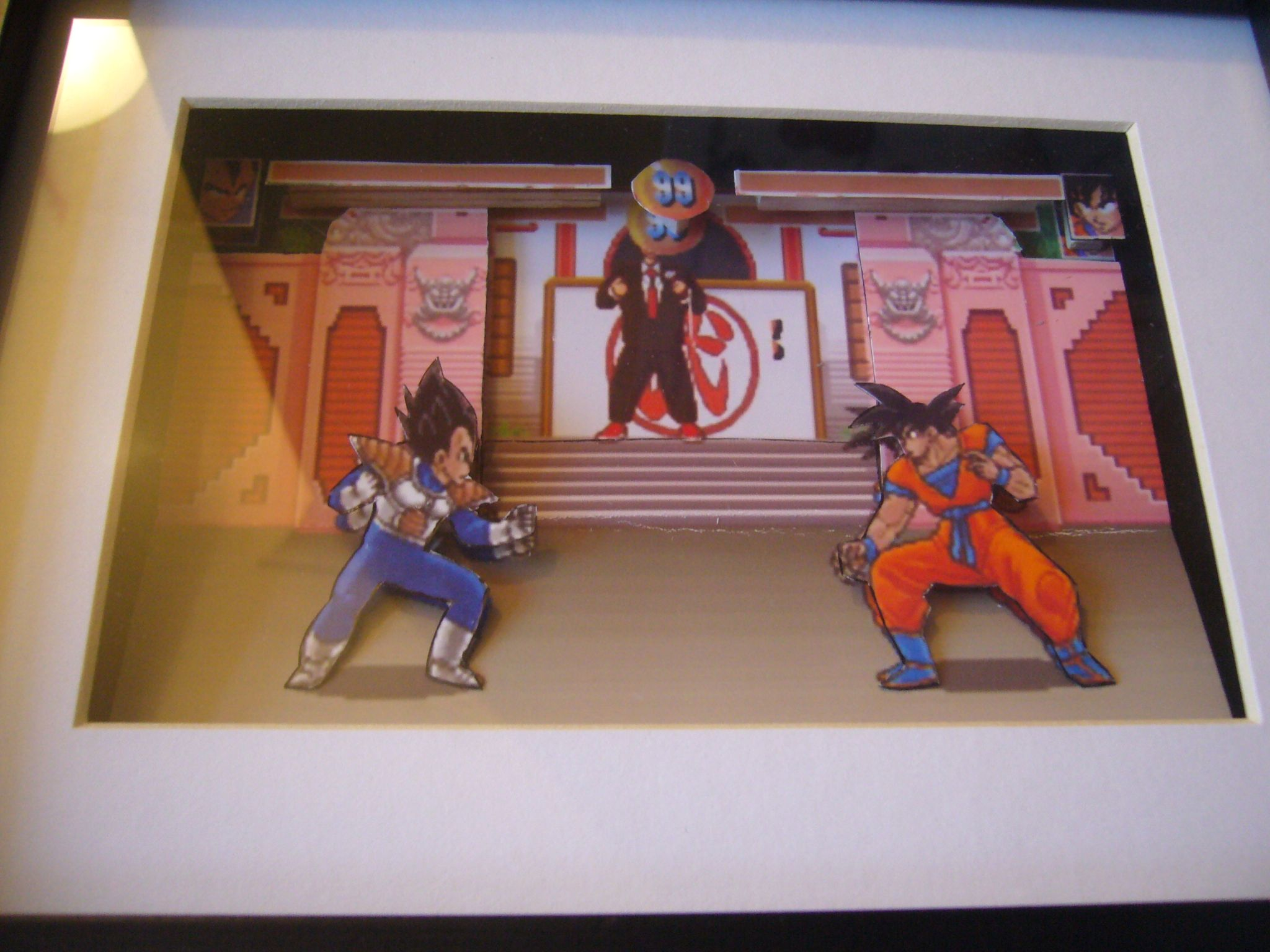 Kitchen Diorama Made Of Cereal Box: Dragon Ball Z 3D Diorama Shadow Box